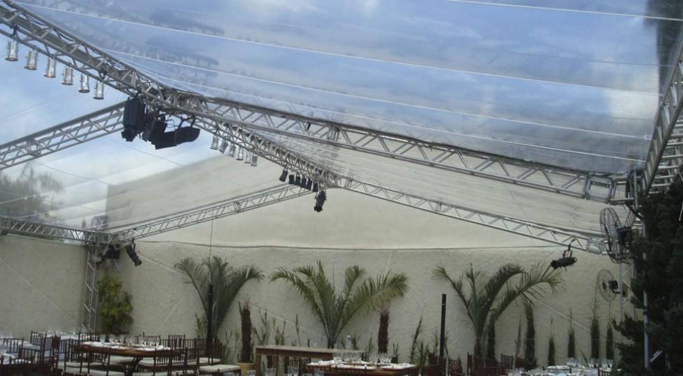 Estrutura completa para palcos e coberturas