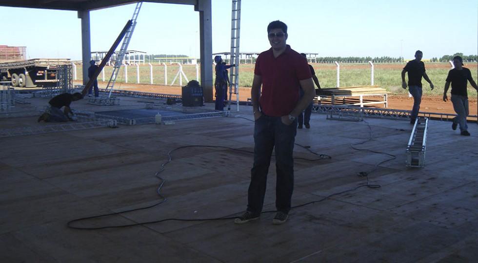 Montagem estrutural de piso